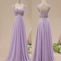 Off The Shoulder Lavender Chiffon Empire Waist Long Prom Dress,V Neck Pregnant Evening Dresses Prom Gown ,Custom Made Graduation Dress,Bridesmaid Dress