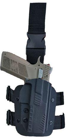 Toc din Kydex cu retentie nivel 2, pentru pistol CZ P09 si CZ P07. Produs in Romania de VF&Wolfy. Retentia activa este la degetul  mare, iar retentia pasiva se realizeaza prin strangerea celor 2 suruburi aflate pe fata tocului.  Stabilitatea pe picior in timpul alergarii este asigurata cu 2 chingi orizontale avand insertii din cauciuc impiedicand alunecarea  .