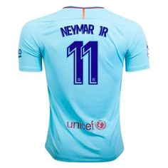 Barcelona 2017/18 Away Men Soccer Jersey NEYMAR JR#11