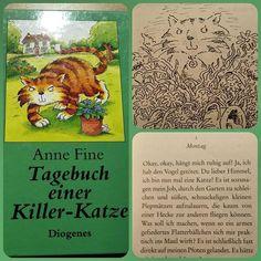 Heute ist es eins meiner liebsten Kinderbücher. Es hat einen wunderbar bösen Humor und ich liebe auch die Hörbuch Version.  #katze #kater #mord #tagebuch #killerkatze #annefine #kinderbuch #cat #book
