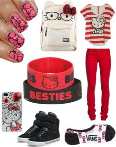 I found 'Hello kitty Outfit' on Wish, check it out! Yamaguchi, Hello Kitty House, Hello Kitty Birthday, Outfits For Teens, Cute Outfits, Hello Sanrio, Hello Hello, Hello Kitty Clothes, Scene Kids