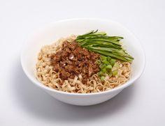 A-Sha Mandarin Noodle with Pork Sauce, Cucumber, and Scallion