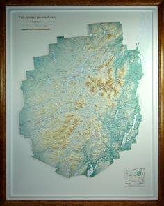 Raised Relief Map Of Adirondack Park New York