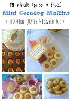 Gluten Free (Dairy & Egg Free) Mini Corn Dog Muffins Recipe
