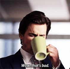 Drinking black coffee and trying to like it...