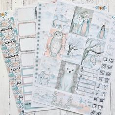 Winter Fairy Tale weekly Happy Planner Sticker kit Full box | Etsy Planner Layout, Planner Ideas, Weekly Planner, Happy Planner Kit, Winter Fairy, Planner Decorating, Planner Stickers, Fairy Tales, Decorative Boxes