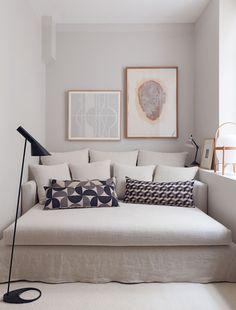 designer room tricks assymetrical art by Maison Hand photo by Felix via Vogue Living Vogue Living, French Apartment, Turbulence Deco, Space Interiors, Deco Design, Dream Decor, Interior Design Inspiration, Small Spaces, Living Spaces