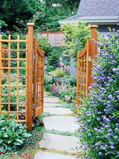 garden gate and fence in similar style