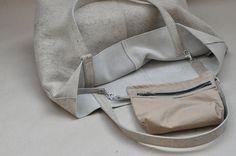 Ledertaschen - Leder-Shopper, TOTE-BAG, Henkeltasche, LEDERTASCHE - ein Designerstück von detailbedacht bei DaWanda