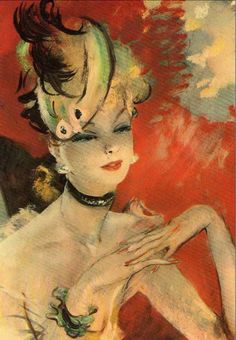 Painting by Jean-Gabriel Domergue (1889-1962).