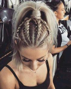 Pretty Braid Ponytail Hairstyles for Medium Length Hair