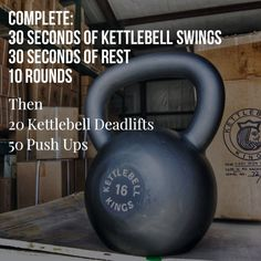 Here is how to start your week off! Use a Kettlebell you can normally swing for 30 or so reps on the first part. Then a heavy Kettlebell relative to your strength for the deadlift Kettlebell Swings, Best Kettlebell Exercises, Kettlebell Challenge, Kettlebell Circuit, Kettlebell Training, Kettlebell Benefits, Kettlebell Deadlift, Training Workouts, Beginner Kettlebell Workout
