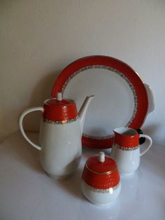 Chodziez Poland porcelain serving set by kunstmus:):)