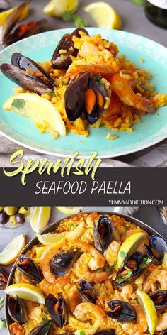 Spanish Paella Recipe, Spanish Seafood Paella, Seafood Dinner, Fish Recipes, Seafood Recipes, Mexican Food Recipes, Cooking Recipes, Easy Seafood Paella Recipe, Best Paella Recipe