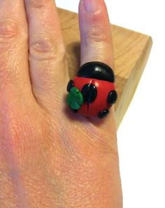 "Ring Fimo ""ladybird"" http://melylefay.wix.com/avaloncreations"