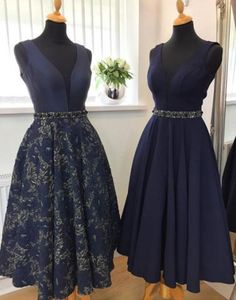 V-Neck Prom Dresses, Sleeveless Homecoming Dress, Homecoming Dress A-Line, Prom Dresses Short, Prom Dresses Blue Prom Dresses 2019 Short Prom Dresses Uk, Navy Evening Dresses, Navy Blue Prom Dresses, V Neck Prom Dresses, Cheap Bridesmaid Dresses, Mid Length Dresses, Prom Dresses 2017, Dresses For Teens, Evening Gowns