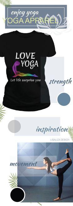 Love yoga Let life surprise you Women Yoga TShirt / Ladies Tee.   #Fitness #Exercise #yoga # #yogadesign #chakra #yogalover #energy #inspiration #yogacasual #workout #inhale #exhale #breathe #meditation #women #fashion #Sunfrog #Lisaliza #giftideas #health #lifestyle