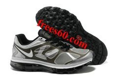 frees60.com for half off nike shoes $62.6 , Mens Nike Air Max 2012 Black White Metallic Silver Shoes