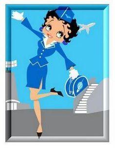 Betty Boop la aeromoza