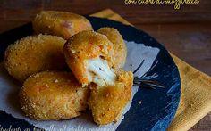Polpette di zucca e speck con mozzarella filante, ricetta