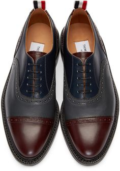 5bb8e51ad28d Thom Browne - Multicolor Toe Cap Brogues Leather Brogues
