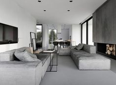 Black, grey and white by Tamizo Architects