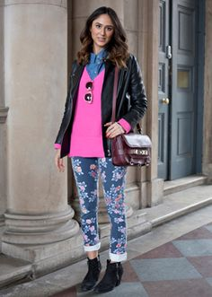 Fashion journalist Soraya Bakhtiarin in Citizens of Humanity jeans at London Fashion Week