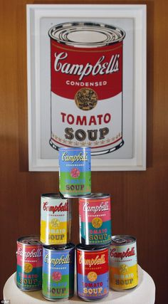 can't wait to head to target on sunday for limited edition soup cans with Warhol-inspired labels!