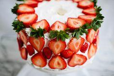 pastel de fresas especial