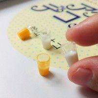 Wish | 4Pcs/Set Milk Juice Miniature Simulation Models 1:6 1:12 Dollhouse Accessories Barbie Accessories