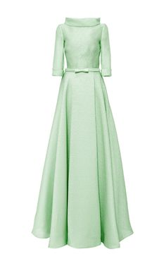 Silk Jacquard A Line Ball Gown by NAEEM KHAN for Preorder on Moda Operandi