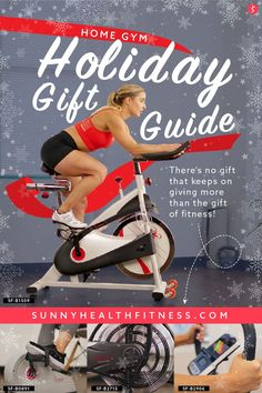 There's no gift that keeps on giving more than the gift of fitness! Now more than ever, your health is a top priority; and, with gyms still closed or limited, there's no better time to invest in building your home gym. Below, I've curated a list of my favorite fitness equipment to make gift-giving a little easier this year! #sunnyhealthfitness #holidaygiftguide #holiday #gifts #giftguide #fitnessgifts #fitness #fitnesslover