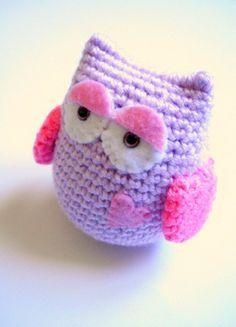 Hoot hoot... Owly Lilac Crochet Amigurumi Owl... Howie