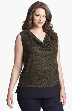 Olivia Moon Draped Sleeveless Top (Plus Size) available at #Nordstrom