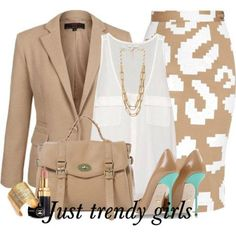 pencil skirt outfit - Fashion work wear for woman http://www.justtrendygirls.com/fashion-work-wear-for-woman/