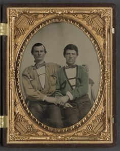 Two Unidentified Soldiers in Trans-Mississippi Confederate battle shirts Library of Congress