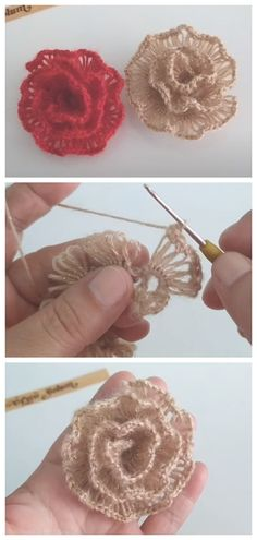Crochet Flower Scarf, Crochet Flower Tutorial, Crochet Flower Patterns, Crochet Designs, Butterfly Pattern, Crochet Pattern Free, Love Crochet, Crochet Motif, Knit Crochet