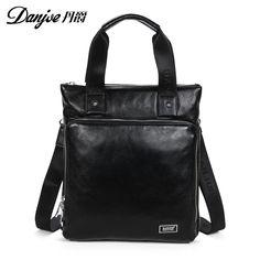 Brand men fashion casual bag Korean version vertical men real leather  shoulder messenger bag business leather handbag for men 2628e4b765