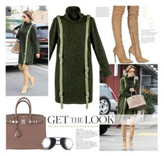 """""""Alessandra Ambrosio in In Concepto Romeo"""" by lisalockhart ❤ liked on Polyvore featuring Le Silla, Hermès, Linda Farrow, Ettika, GetTheLook, StreetStyle, CelebrityLook and CelebrityStyle"""