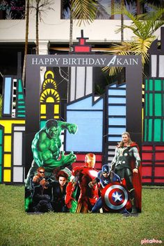 Photo booth from an Avengers Themed Birthday Party via Kara's Party Ideas | KarasPartyIdeas.com (18)