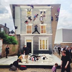 'DalstonHouse' - Leandro Erlich collaboration with the Barbican, london