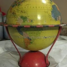 globe from the 1940's - oh i want that green!