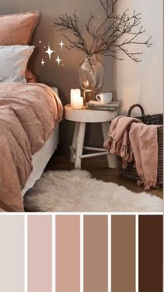 Simple Home Decor Mauve and brown color scheme for bedroom - Earth Tone Colors For Bedroom.Simple Home Decor Mauve and brown color scheme for bedroom - Earth Tone Colors For Bedroom Bedroom Colour Schemes Neutral, Brown Color Schemes, Bedroom Colour Palette, Colour Schemes For Living Room Warm, Interior Colour Schemes, Home Color Schemes, Apartment Color Schemes, Brown Colors, Living Room Colors