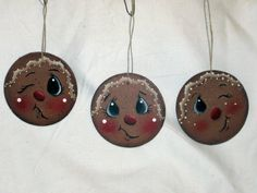 Gingerbread wooden ornament hand painted by KathysKountry on Etsy, $9.50
