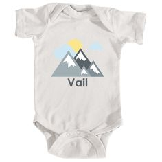 Vail, Colorado Mountains and Clouds in Color - Infant Onesie/Bodysuit