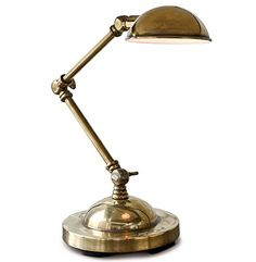 Burning the midnight oil has never been more stylish than with this versatile, space-saving task lamp. Finished in antique brass, with a weathered patina. Industrial Loft, Industrial Lighting, Industrial Furniture, Furniture Decor, Task Lamps, Bedroom Lamps, Antique Brass, Table Lamp, Antiques
