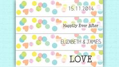 DIY Straw Flags - Instant printable downloads or printed stationery on your doorstep in just a few days. Customise all Save the Dates, invitations and other items via our website yourself at: http://www.hiphiphooray.com/category/wedding-and-celebrations/collections/candy-colours/  Candy Coloured, confetti theme wedding & party inspiration by HipHipHooray.com http://www.hiphiphooray.com/blog/post/confetti-candy-colour-pop/