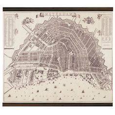Authentic Models Amsterdam Map - 1737