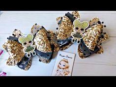 You May Enjoy fabric dolls With These Helpful Tips Diy Hair Bows, Diy Bow, Diy Ribbon, Ribbon Hair, Bow Hair Clips, Bow Template, Jojo Bows, Baby Hair Accessories, Boutique Hair Bows