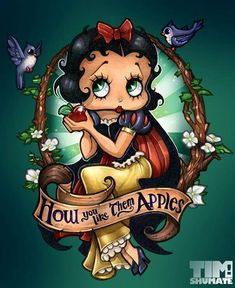 Betty Boop meets Snow White